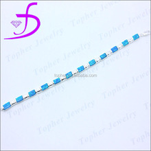 925 sterling silver tennis bracelet opal China factory wholesale rhodium or silver plated