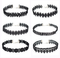 2017 Trendy Black Lace Choker Necklace Set Collar Chocker Necklace Jewelry For Women