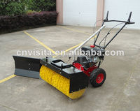 power sweeper with snow blade