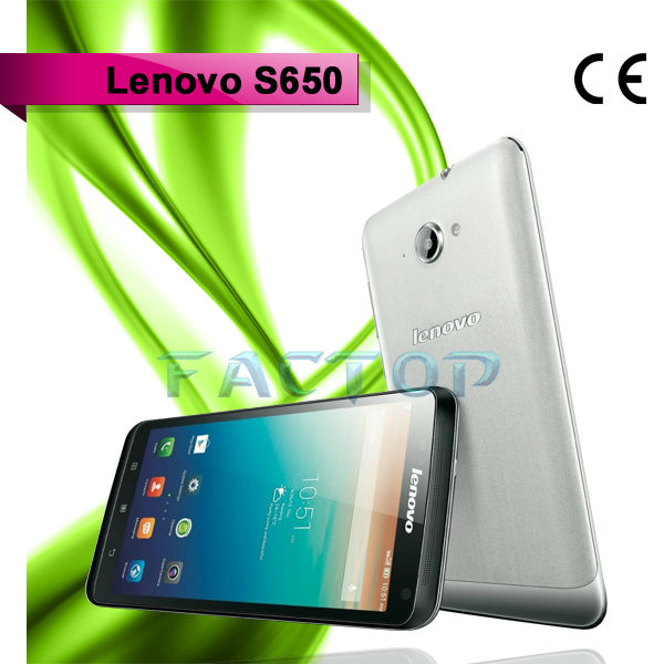 lenovo s650 dual sim card dual standby 4.7 inch capacitive touch screen with CE quad core celular phones china phone