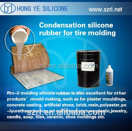 Silicone Rubber Stamp Concrete Casting Mold Making