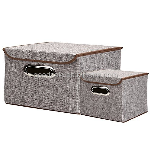 Collapsible Non-woven Fabrics Storage Bins with Lids Multi Functional Containing Box for Clothes Kid Toys Office Files Shelves