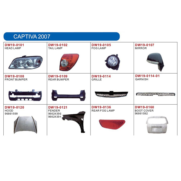 auto lamp and body parts for CHEVROLET CAPTIVA 2007