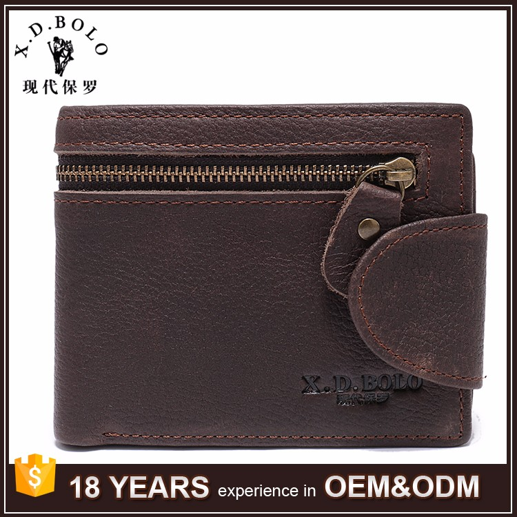 Wholesale Popular Mens Leather Wallets with Coin Pocket