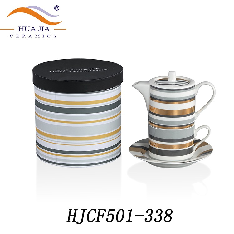 HJCF501-338 Eco-friendly porcelain ceramic beauty and the beast teapot cup set