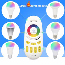 RGB / RGBW 4 zone 2.4G touch remote control colorful with LED bulb and controller
