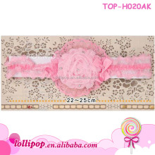 Lace flower baby nylon headband infant latest design baby stretch headband