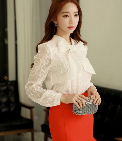 z88660A wholesale clothing lace women clothes chiffon ladies tops blouses 2016