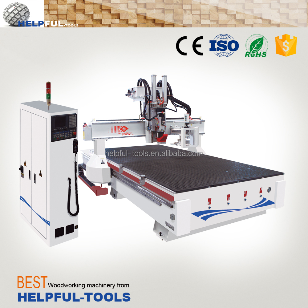 Helpful Brand Shandong Weihai Automatic Tools Changing CNC Router with 8 knives, ATC CNC engraving/carving/cutting machine