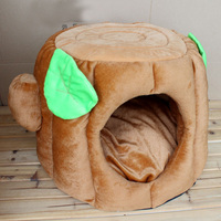 Plush Cheap dog bed simple dog indoor houses pet houses