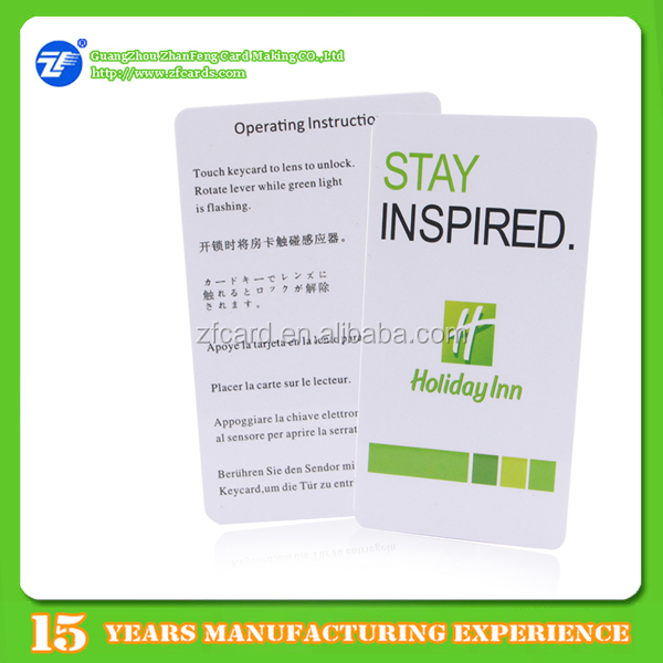 Cr80 offset printable pvc membership card for hotel