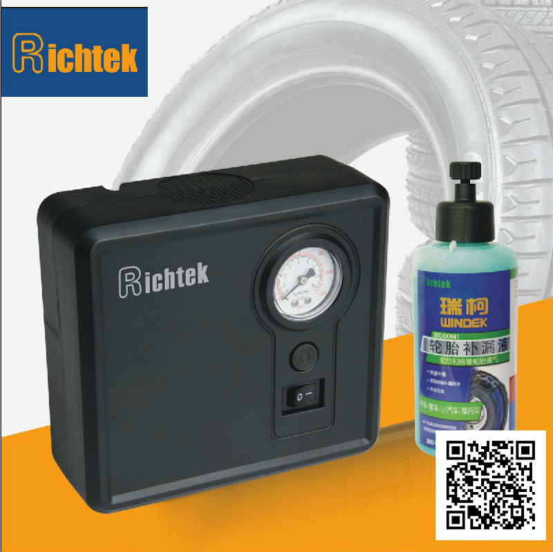 Richtek 12V Typ First-Aid kit Tire Sealer and Inflator with 300ml/ 450ml/ 600ml sealant