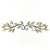 Tree of Life Metal Wall Gold Foiled Leaves Art Sculptures Metal Wall Decor