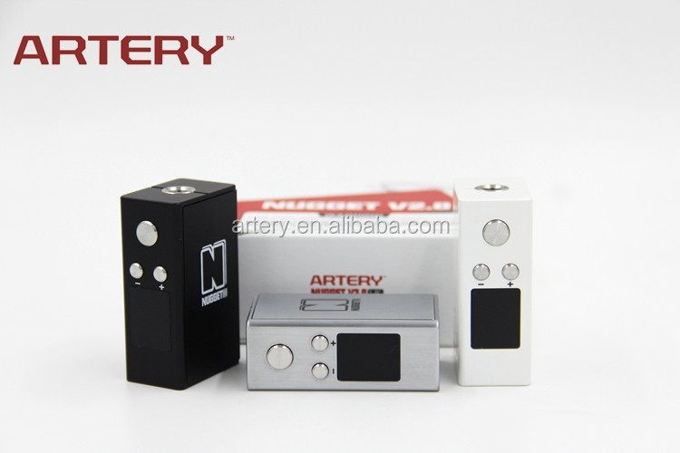 2016 New Arrival product Artery E-cig Nugget V2 Box Mod with 1500mah Battery Capacity