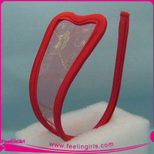 Wholesale Hot Red Sheer Embroidered Sexy C-string for Girl