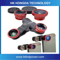180 Degree phone lens Fish Eye Lens + Wide Angle + Macro Phone Camera Lens Kit for iPhone 5 5S Samsung Galaxy S3 S4 note 3