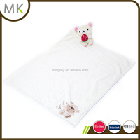 Coral Fleece Popcorn Baby Blanket With