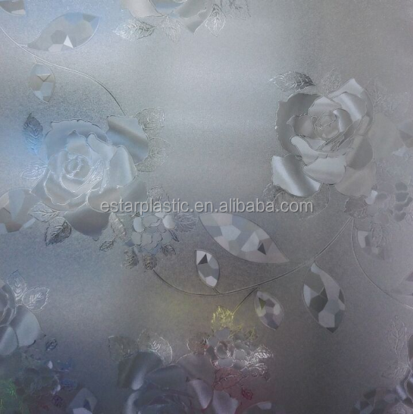 New film glass, flower shape film window