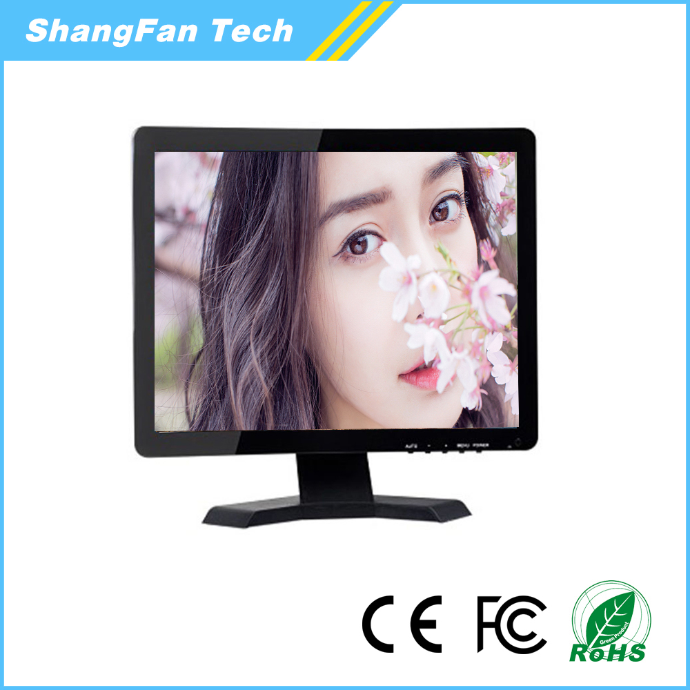 1280*1024 17 inch 1080p LCD Monitor DC12v 17inch lcd av tv monitor with computer