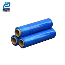 Free sample offer slide cutter plastic pe stretch cling film blue film on sale