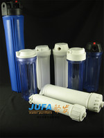 "2015 best selling domestic plastic 10""H filter canister blue water filter housing"