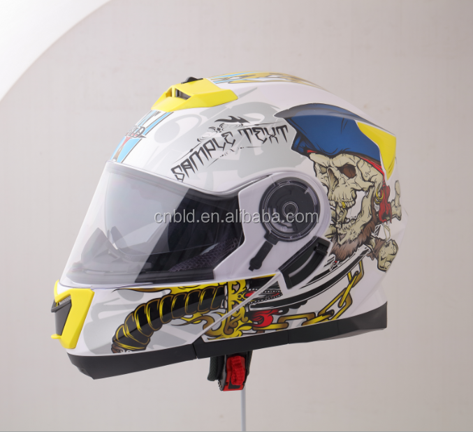 Custom modular helmet with Sun glass DOT approve helmet BLD-160