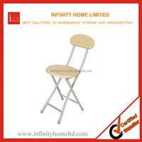 Hot Sell Round Metal Bar Stool with Backrest