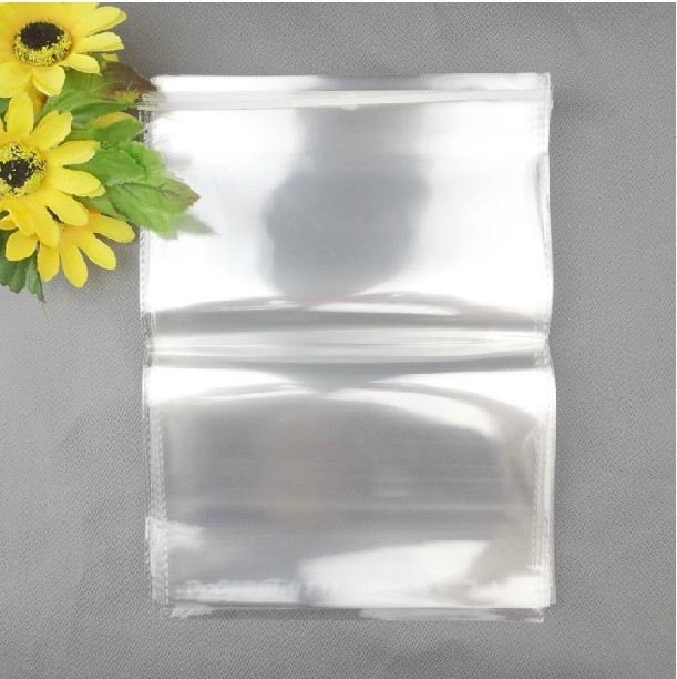 custom color printed crystal clear self adhesive seal OPP bag