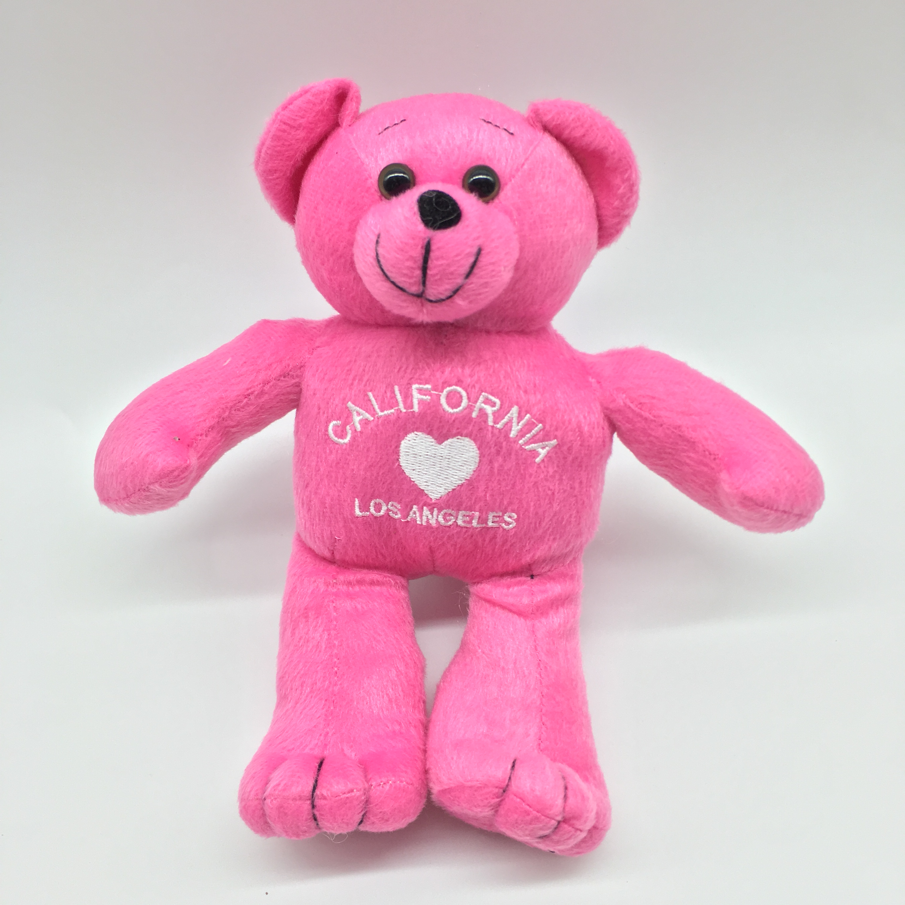 Customized Size Country Moscot Promotion Gift <strong>Plush</strong> Stuffed Pink Embroidery Logo Bear Toy