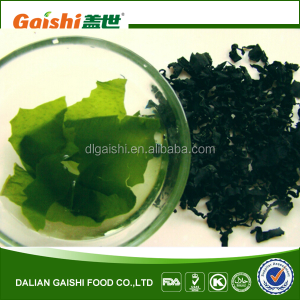 Chinese seafood of dried wakame/sun dried and natural dried cut kelp/dried cut sea algae