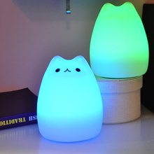 Creative 7 Colors Change Silicone Cute Gift Night Light Kids LED Night Lamp Night Lights For Baby