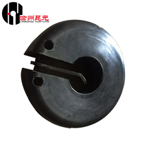 Round rubber thread protector clamp-on thread protector for casing tubing
