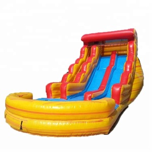 Splash Inflatable Steep Jump House Death Drop Kick Dry Half Pipe Bounce Water Slides For Sale Commercial