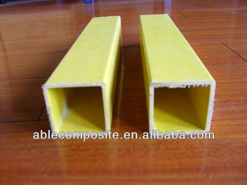 Pultuded high strength GRP square tubing, FRP square tubing, Fiberglass Square Tubing