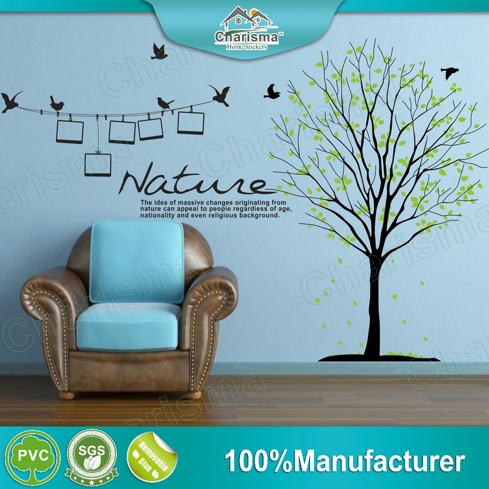 Removable nature photo frame tree wall stickers for room decoration home decor