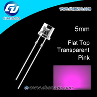 Ultra Bright 0.06W 3V through hole water clear 5mm Led diode pink