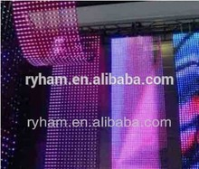 Flexible led curtain display portable soft led light roll screen for outdoor and indoor/creative led display/xxx image