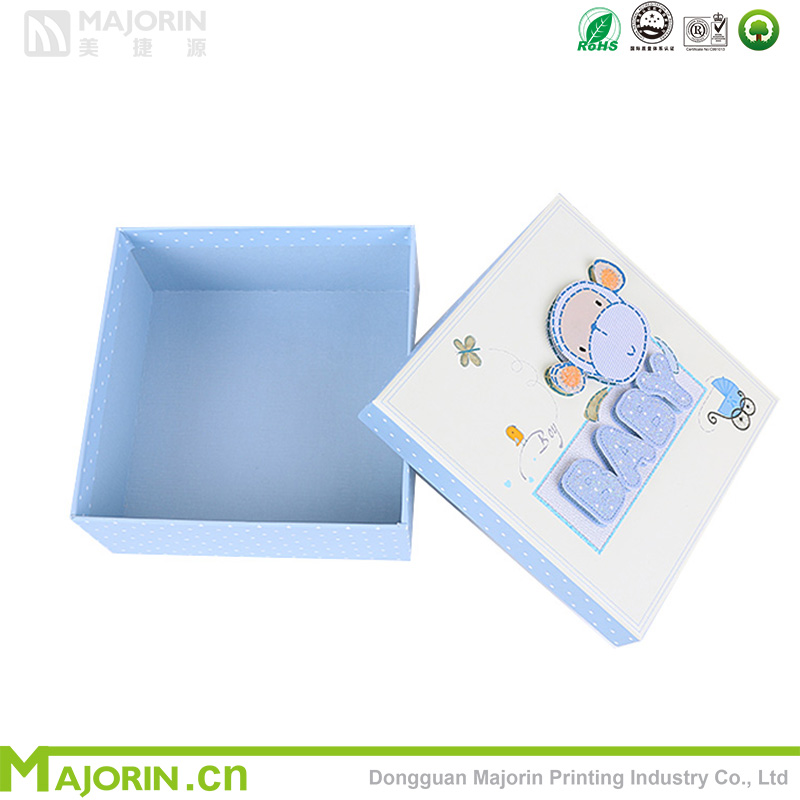 Majorin lovely and warm gift paper box for baby with high quality