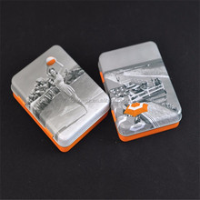 rectangular empty mints tin can with hinge
