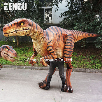 Outdoor vivid walking animatronic dinosaur costume