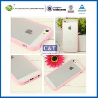 "TPU Clear Back Hard Cover for iphone5c,for iphone 5c"" accessories"