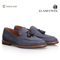 BORONG 2018 Summer Autumn Blake Dress Genuine Leather Outsole Shoes Tassels Style Slip-on Loafers Casual Men Shoes