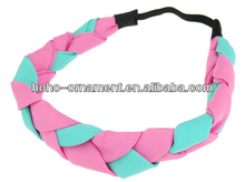 2014 New Fashion Hair Accessories Colorful Hair band fashion classic color matching weave hair band