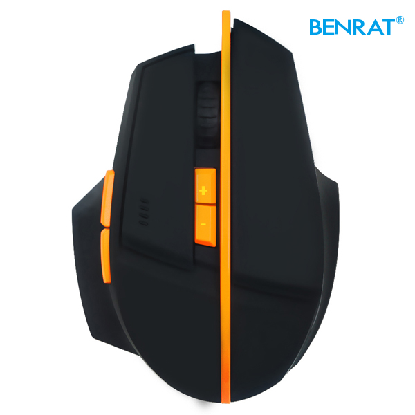 DPI 2400 optical RF 2.4Ghz PC big wireless gaming mouse