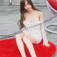 Hot selling realistic huge breast sexy real doll young girl for men silicone 166cm adult sex toys