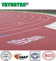 IAAF certified all weather 13mm synthetic rubber running track materials