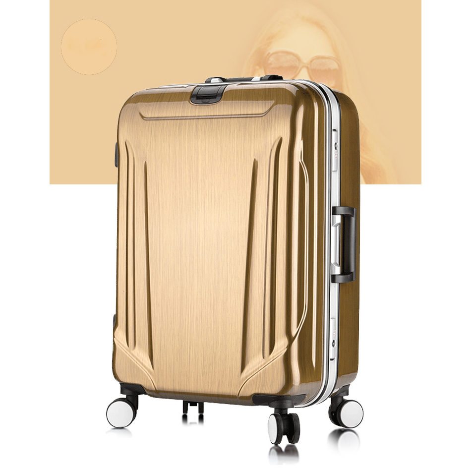 PC ABS Top range metal frame trolley luggage suitcase