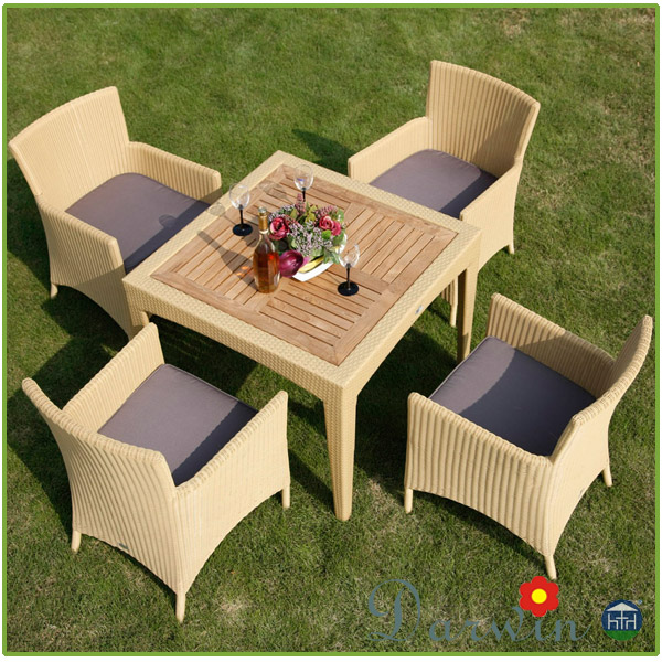 Outdoor Patio Rattan Dining Set Furniture Wedding Chairs And Tables