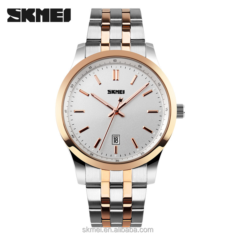 SKMEI Honorable fashion luxury watches men and clear luxury watch japan movt quartz watch stainless steel back