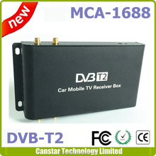 singapore dvb t2 set top box Car DVB-T2 2 tuner 2 antenna Siano chipset